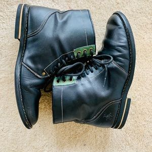 Original Penguin Jerry Jeff Black Leather boots 8